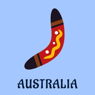 Naklejka Australian National pojedyncze kolorowe bumerang