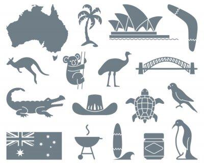 Naklejka australijscy ikony