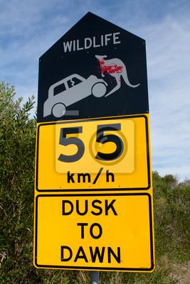 Naklejka Australijska przyrody znak zagrożenia