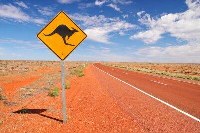 Naklejka Australijskie drogi niekończące