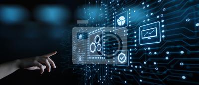Naklejka Automatyzacja Oprogramowanie Technologia Proces System Koncepcja biznesowa