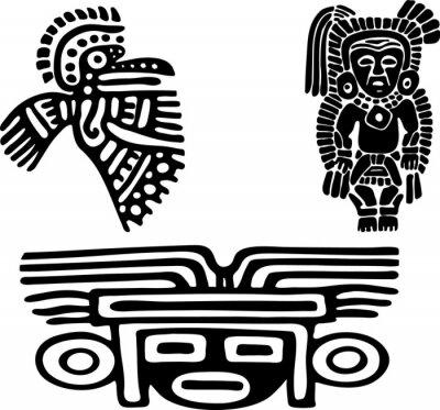 Naklejka Aztekowie