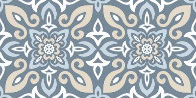 Naklejka Azulejos Tile Vector Seamless Pattern