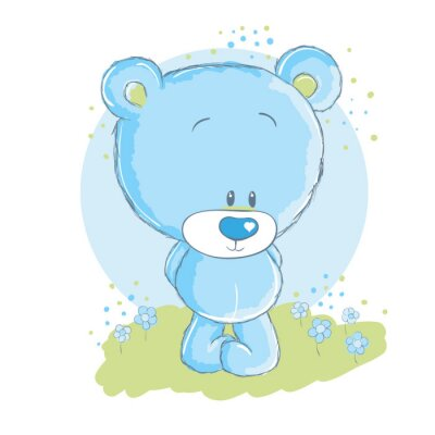 Naklejka Baby blue bear