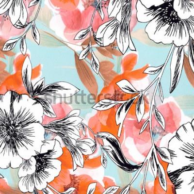 Naklejka backgraund sztuki abstrakta projekta tkanina