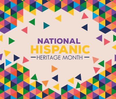 Naklejka background, hispanic and latino americans culture, national hispanic heritage month in september and october vector illustration design