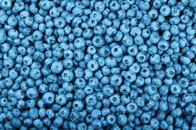 Naklejka Background of fresh blueberry berries
