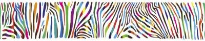 Naklejka Background with multicolored Zebra skin
