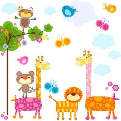 Naklejka background zwierzęta