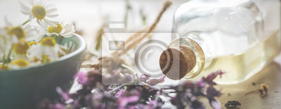 Naklejka Backround-header for natural cosmetics, wellness or homeopathy