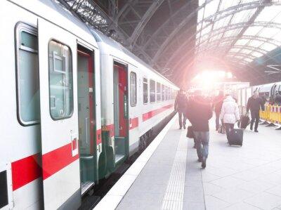 Naklejka Bahnhofsverkehr