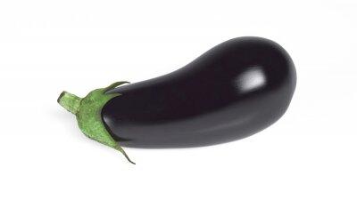 Naklejka Bakłażan, warzywa samodzielnie na białym tle, Close-up