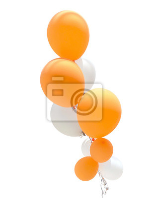 Naklejka Balloons for party decoration isolated on white background.