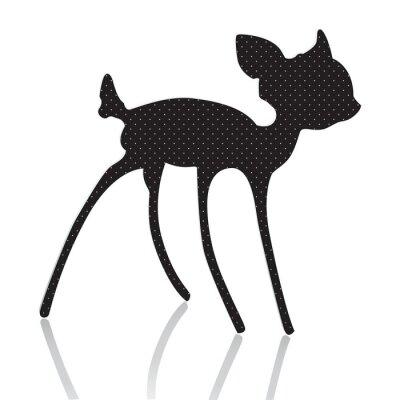 Naklejka Bambi sylwetka ilustracji wektorowych