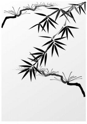Naklejka Bamboo i sosny