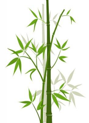 Naklejka Bamboo tle, ilustracji