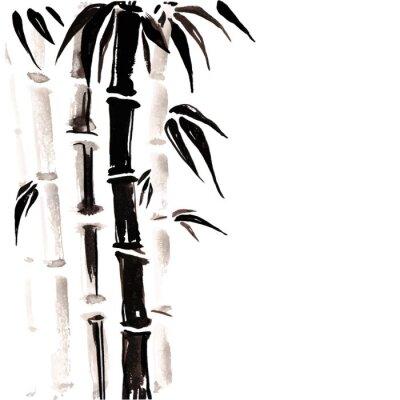 Naklejka Bambus w stylu chińskim.