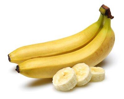 Naklejka Banan z plastrami banana