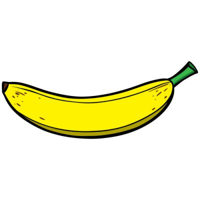 Naklejka Banana Ikona