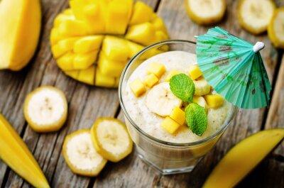 Naklejka banana smoothie mango