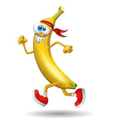 Naklejka banana sportiva