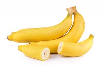 Naklejka banany na białym tle