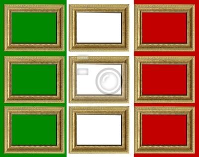 Bandiera italiana con cornici personalizzabili