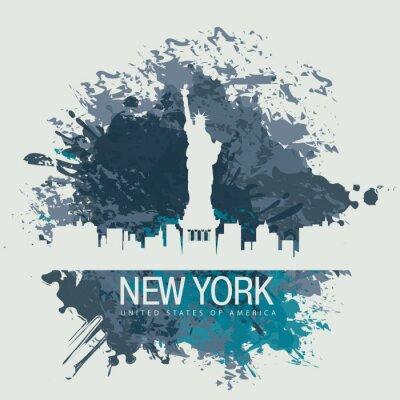 Naklejka baner z Nowego Jorku, Statua Wolności