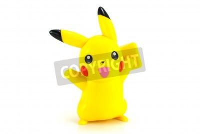 Naklejka Bangkok, Tajlandia - 30 października 2014: Pickachu zabawka postać z Pokemon anime. Są to zabawki sprzedawane w ramach McDonald HappyMeal zabawki.