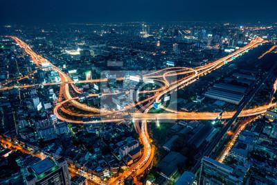 Naklejka Bangkok w nocy