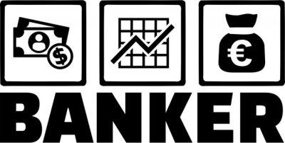 Naklejka Bankier Pieniądze