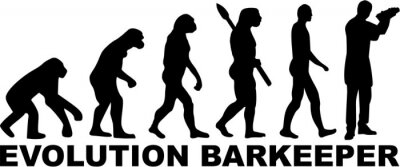 Naklejka Barman Barman Barman Evolution