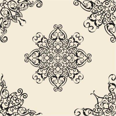 Naklejka Barokowe elementy narożne