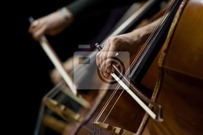 Naklejka basy szczegółowo na orkiestrę symfoniczną