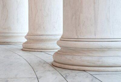 Naklejka Baza jońskimi kolumnami w Jefferson Memorial w Waszyngtonie