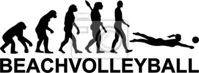 Naklejka Beachvolleyball Evolution