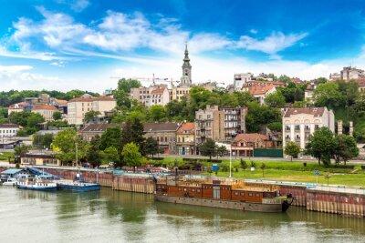 Naklejka Belgrad cityscape