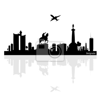 Naklejka Belgrad Ilustracja