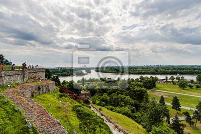 Naklejka Belgrad, panoramiczny widok z Kalemegdan