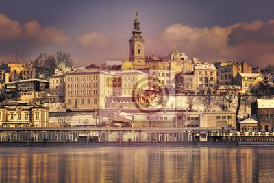 Naklejka Belgrad, Serbia - od rzeki Sawy
