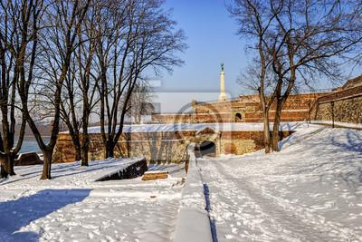 Belgrad twierdza się zima, Belgrad Serbia