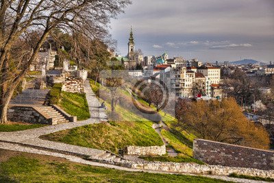 Naklejka Belgrade capital city of Serbia