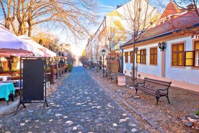 Naklejka Belgrade. Famous Skadarlija old cobbled streets in historic Beograd