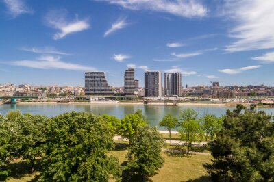 Naklejka Belgrade Waterfront - new chapter in the city of Belgrade, Serbia.