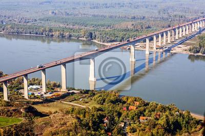 betonowy most z lotu ptaka