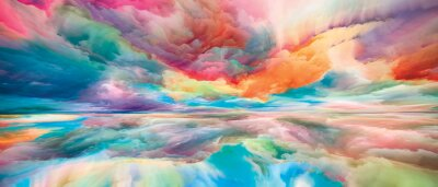 Naklejka Beyond Land and Sky