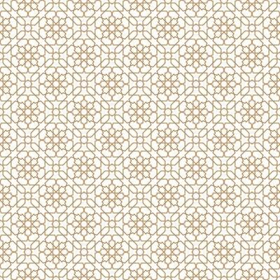 Naklejka Bezproblemowa arabski ornament geometryczny w złotym kolorze.
