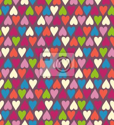 Naklejka Bezproblemowa ładny wzór serca. Wektor