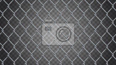 Naklejka Bezszwowe tło realistyczne ogrodzenia ogniwa łańcucha. Siatka wektorowa jest
