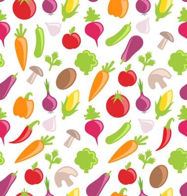 Naklejka Bezszwowych tekstur z kolorowych warzyw